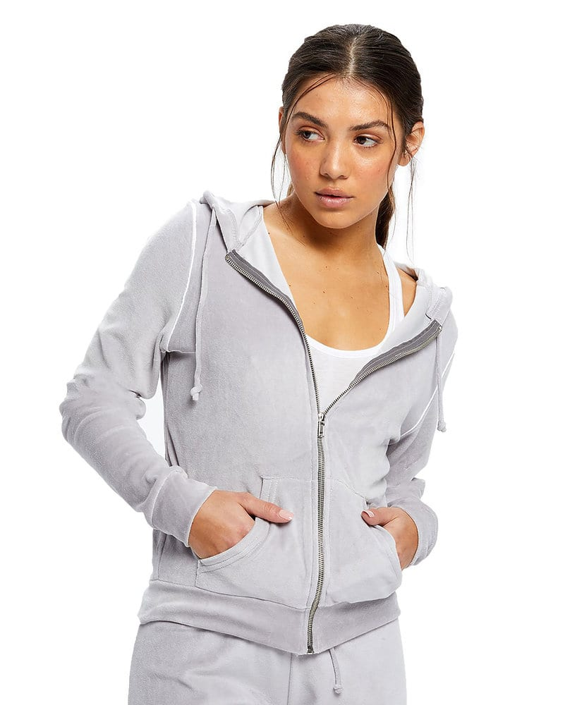 US Blanks US0565 - Women's Plush Velour Zip Hoody