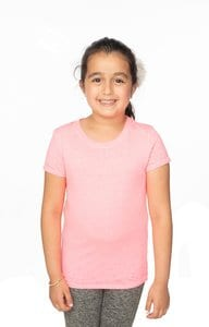 Royal Apparel 22510bo - Youth Burnout Wash Short Sleeve Girls Tee