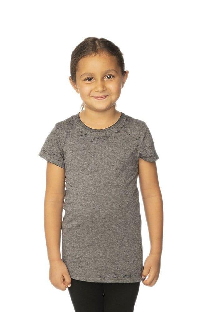Royal Apparel 22560bo - Kids Burnout Wash Short Sleeve Girls Tee