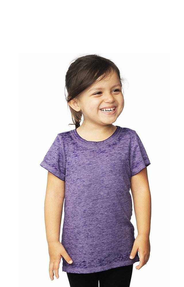 Royal Apparel 22580bo - Toddler Burnout Wash Short Sleeve Girls Tee