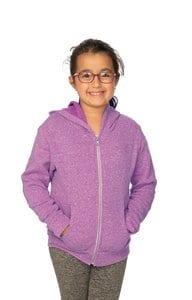 Royal Apparel 25020 - Youth Triblend Fleece Zip Hoodie
