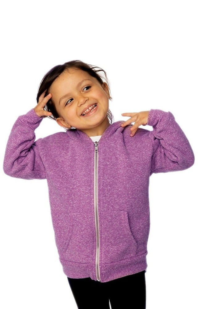 Royal Apparel 25060 - Toddler Triblend Fleece Zip Hoodie