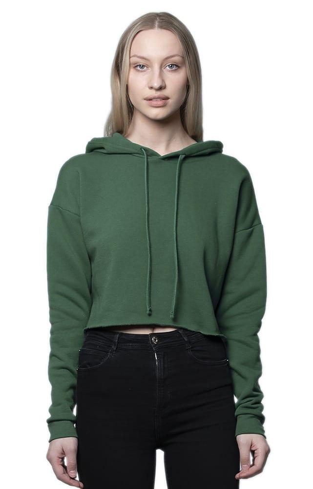 Royal Apparel 3118 - Women's Fashion Fleece Crop Hoodie