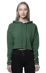 Royal Apparel 3118 - Womens Fashion Fleece Crop Hoodie