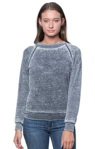Royal Apparel 3199bo - Womens Burnout Fleece Raglan Pullover