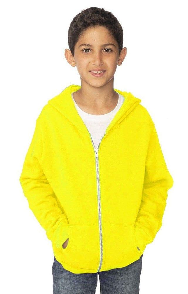 Royal Apparel 3222n - Youth Fashion Fleece Neon Zip Hoodie