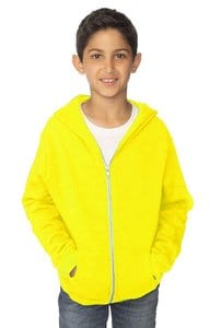 Royal Apparel 3222n - Youth Fashion Fleece Neon Zip Hoodie