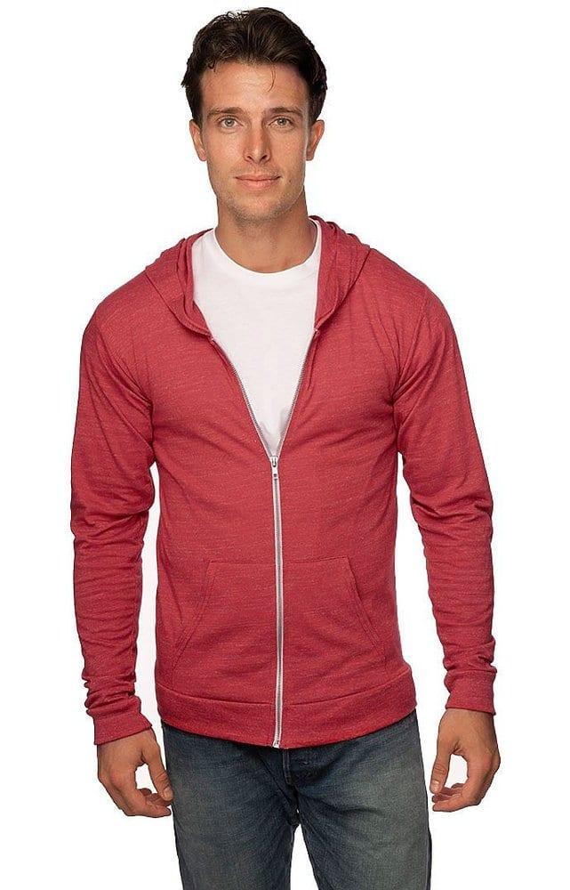 Royal Apparel 32550 - Unisex eco Triblend Jersey Full Zip Hoodie