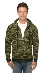 Royal Apparel 3510cmo - Unisex Camo Fleece Full Zip Hoodie