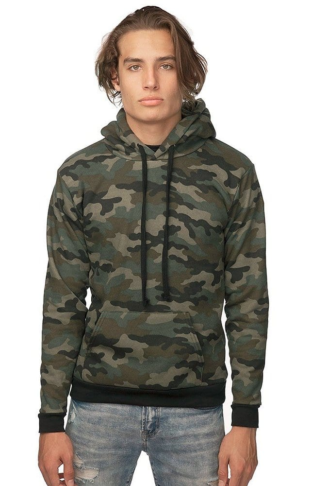 Royal Apparel 3515cmo - Unisex Camo Fleece Pullover Hoodie