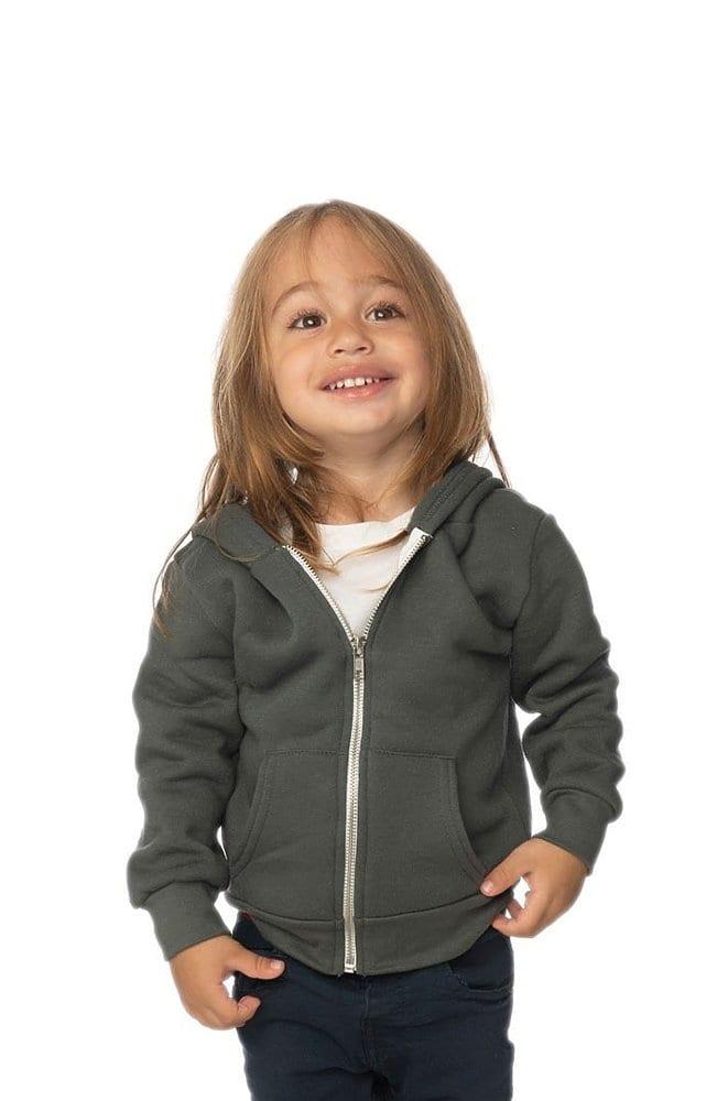Royal Apparel 3666 - Toddler Fashion Fleece Zip Hoodie