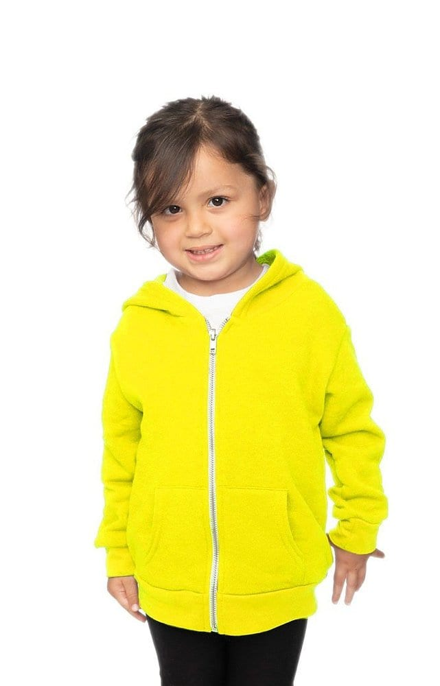 Royal Apparel 3666n - Toddler Fashion Fleece Neon Zip Hoodie