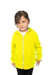 Royal Apparel 3666n - Toddler Fashion Fleece Neon Zip Hoodie
