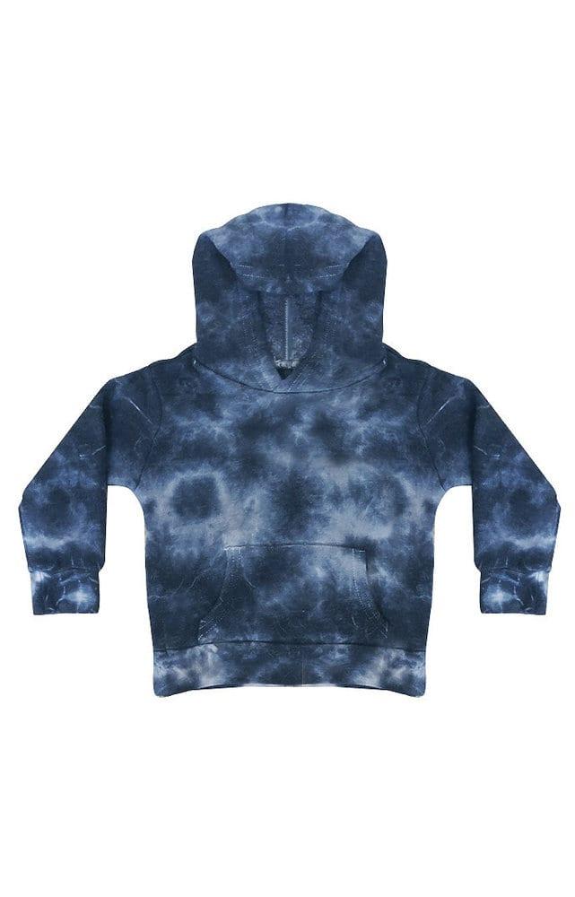 Royal Apparel 3699ctd - Toddler Fleece Cloud Tie Dye Pullover Hoodie