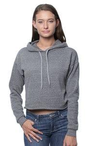 Royal Apparel 37008 - Womens eco Triblend Fleece Crop Hoodie