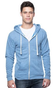 Royal Apparel 37050 - Unisex eco Triblend Fleece Full Zip Hoodie