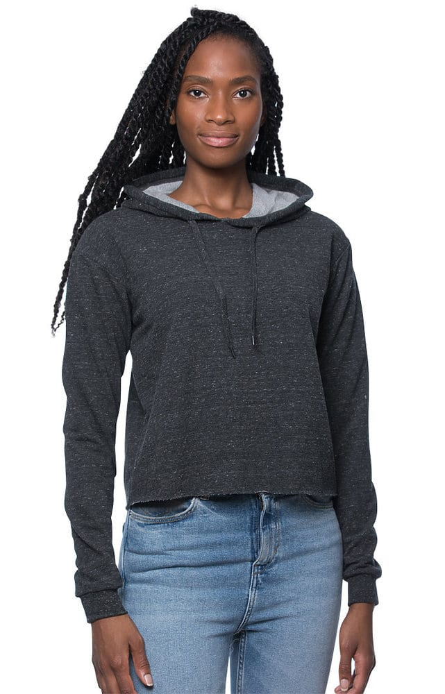 Royal Apparel 40175 - Women's Triblend French Terry Pullover Crop Hoodie