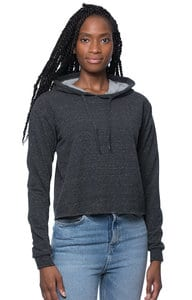 Royal Apparel 40175 - Womens Triblend French Terry Pullover Crop Hoodie