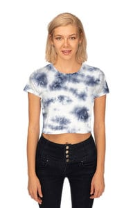 Royal Apparel 55155ctd - Weekend Cloud Tie Dye Boxy Crop