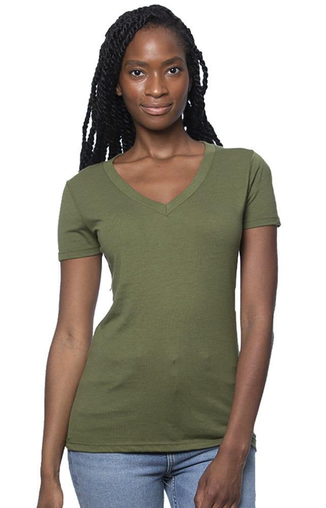 Royal Apparel 64030 - Women's Viscose Hemp Organic Cotton V-Neck