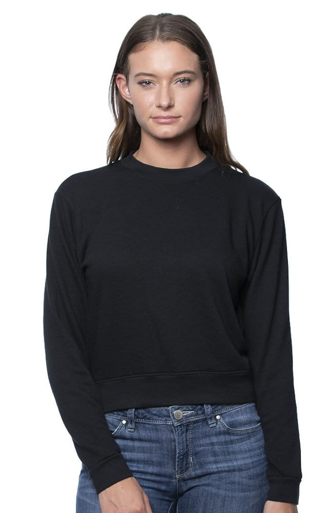 Royal Apparel 97100 - Womens Organic RPET French Terry Crew