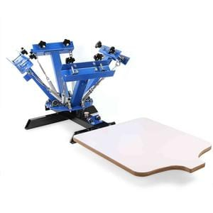 Removable 4 Color 1 Station Silk Screen Printing Press Machine