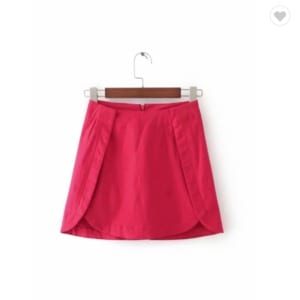 Straight mini red skirt - M801