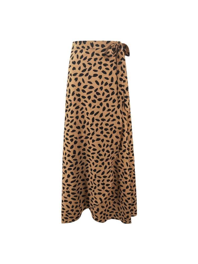 Printed long wrap skirt - or61368b