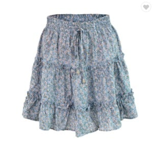 Mini skirt with floral print WW3636