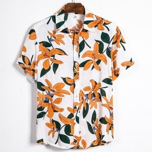 Needen CS132 - Short sleeve Hawaiian shirt