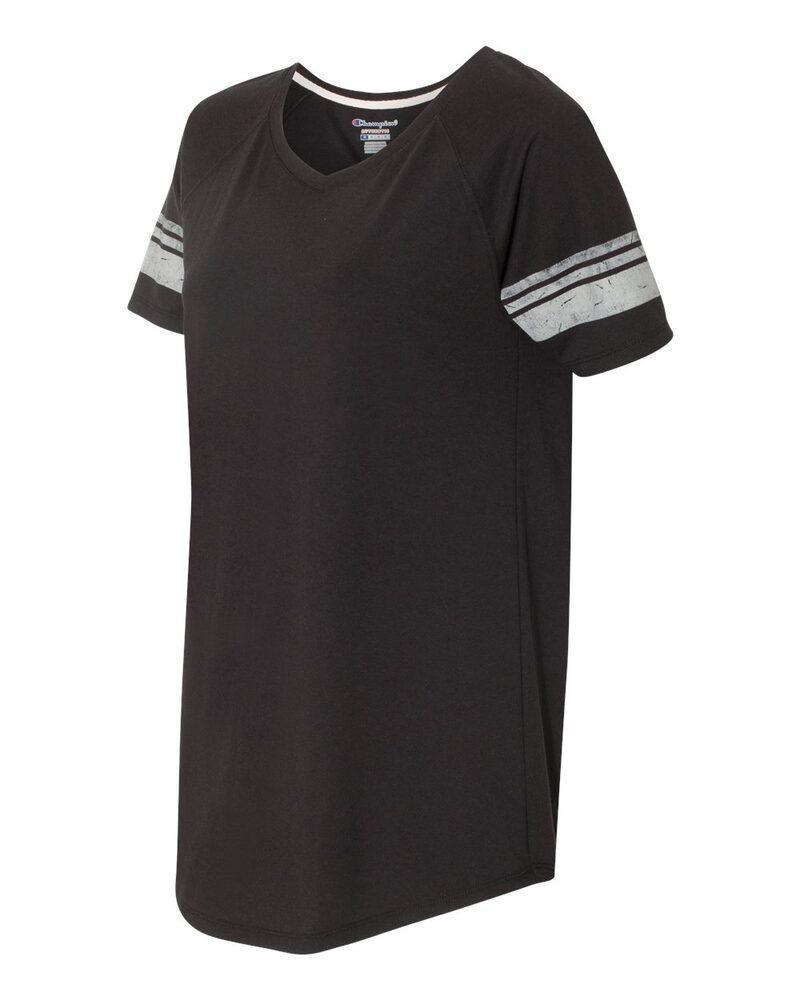 Champion AO350 - T-Shirt Triblend Varsity pour femme