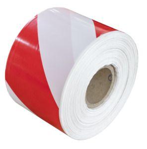JBM 53811 - white warning tape and red - 200m