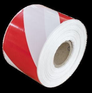JBM 53811 - white warning tape and red - 200m
