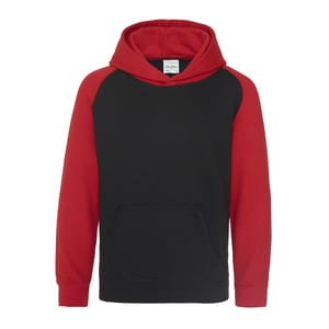 AWDIS JH009J - Hooded sweatshirt constrated sleeves
