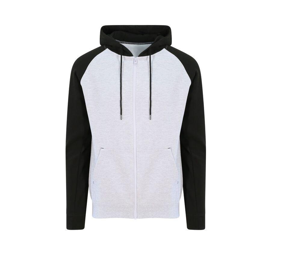 AWDIS JUST HOODS JH063 - Zipped Baseball Sweatshirt