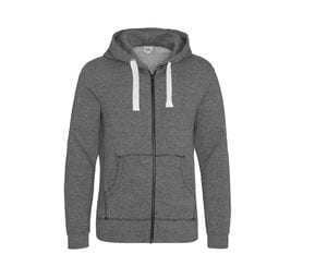 AWDIS JH068 - Hooded pullover with zip and heather