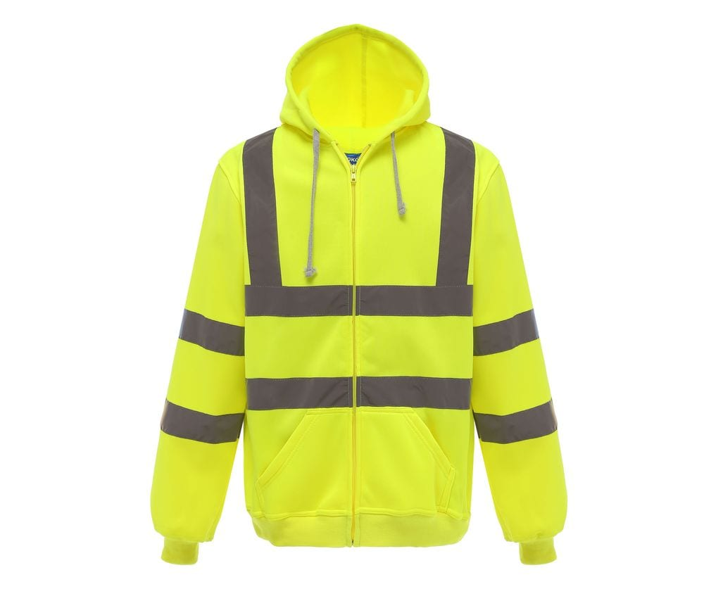 Yoko YKK07 - High visibility zip-up hoodie