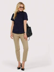 Uneek Clothing UC704 - Ladies Pinpoint Oxford Half Sleeve Shirt