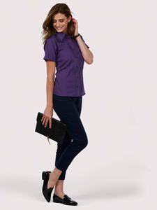 Uneek Clothing UC712 - Chemise manches courtes Poplin pour femmes