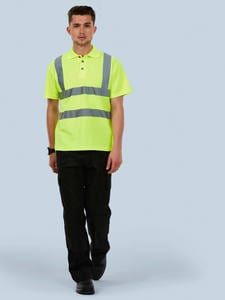 Uneek Clothing UC805 - Hi-Viz Polo Shirt