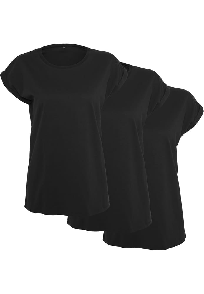 Build Your Brand BY021A - Ladies Extended Shoulder Tee 3-Pack