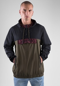 CS CS1183 - C&S WL Anchored Zip Anorak black/olive XXL