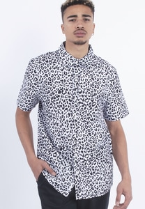 CS CS1913 - C&S WL Fresh Leopard Short Sleeve Shirt black/white