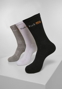 Mister Tee MT2054 - Fuck Off Socks 3-Pack