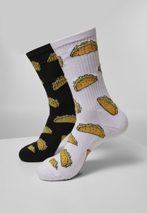 Mister Tee MT2077 - Taco Socks 2-Pack