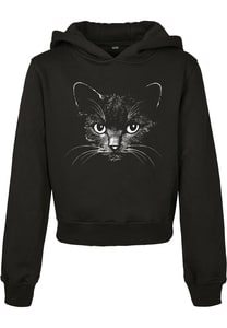 Mister Tee MTK087 - Kids Black Cat Cropped Hoody
