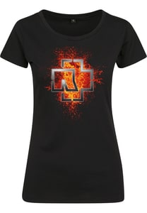 Rammstein RS022 - Camiseta de mujer con logo Rammstein Lava