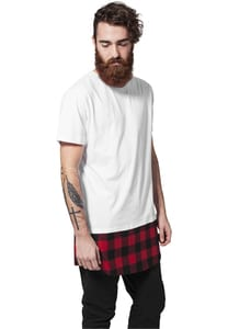 Urban Classics TB1098 - Long Shaped Flanell Bottom Tee