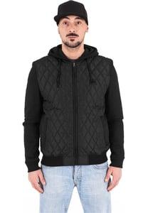 Urban Classics TB1149 - Hooded Diamond Quilt Nylon Jacket