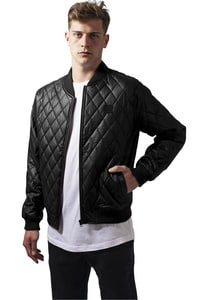 Urban Classics TB1150 - Diamond Quilt Leather Imitation Jacket